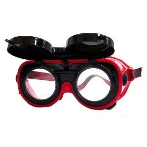 Naočale, preklopne s tamnim i prozirnim staklom