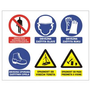Skupna ploča znakova za privremena gradilišta